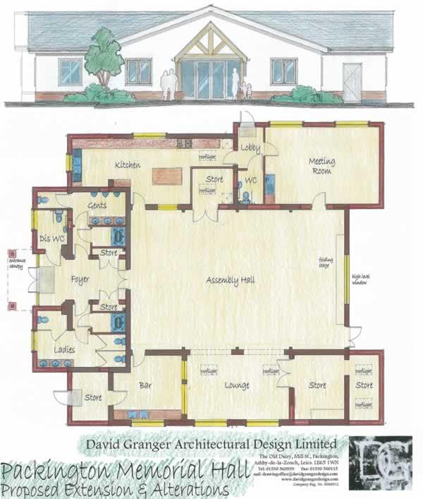 Packington Memorial Hall Plan