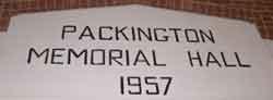 Packington Memorial Hall 1957 Headboard