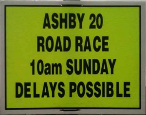Delays notice for Ashby 20