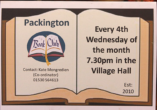 Packington Book Group 2015 – New Members Welcome! Programme