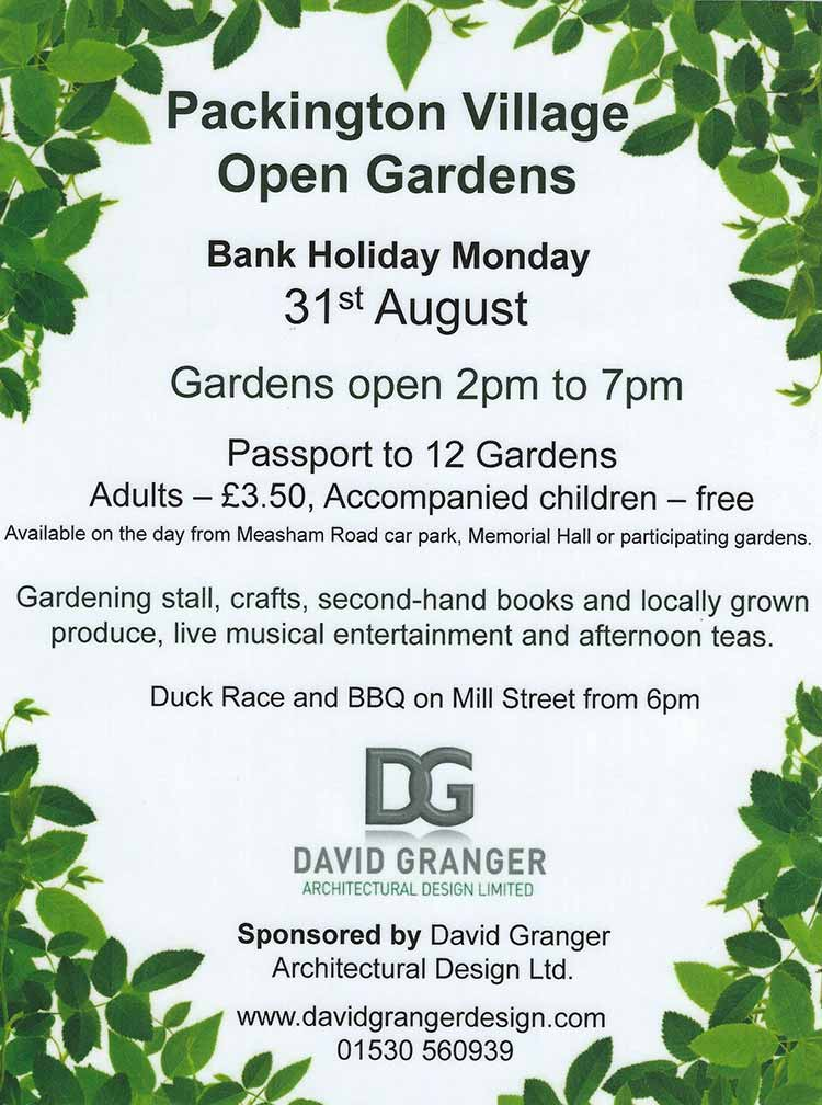 Packington Open Gardens - August Bank Holiday Monday - probably the Best Open Gardens in Leicestershire