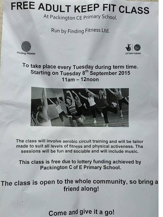 FREE Adult Keep-Fit Class at Packington Primary School