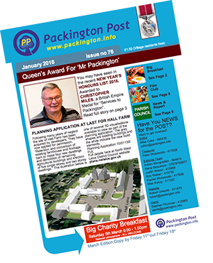 Packington Post Cover Issue 76 January 2016