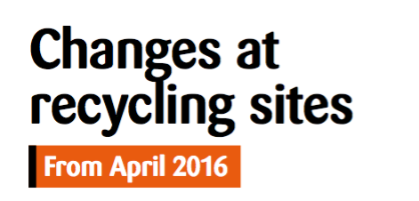 Changes at Re-cycling sites