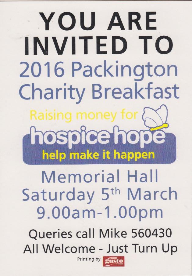 20160305 Advert Charity Breakfast