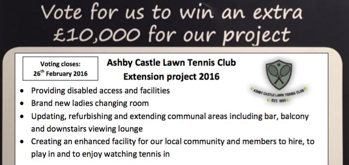 Ashby Castle Lawn Tennis Club bid details